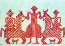 Вышивка южных карел, конец XIX века