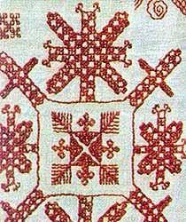 Вепсская вышивка, XIX век