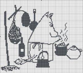 Схема для вышивки муми-тролль
